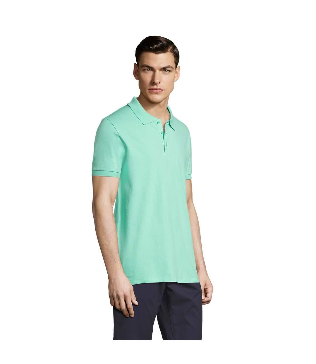 SOLS Mens Phoenix Short Sleeve Pique Polo Shirt (Mint) - UTPC2782