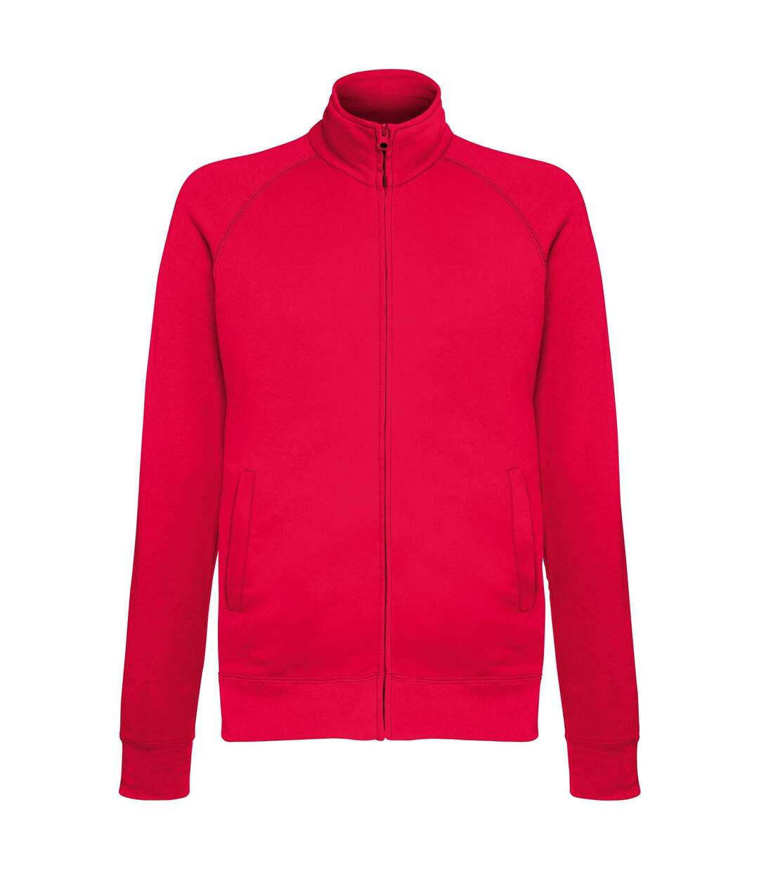 Fruit Of The Loom Mens Lightweight Full Zip Sweatshirt Jacket (Red) - UTRW4500