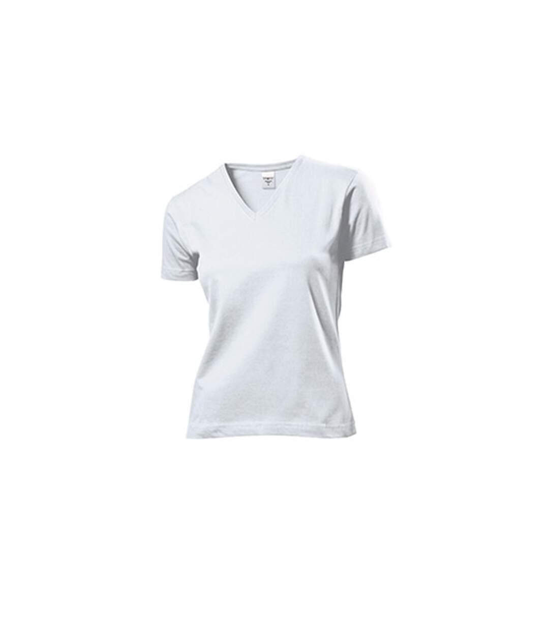 Stedman - T-Shirt Col V - Femme (Blanc) - UTAB279