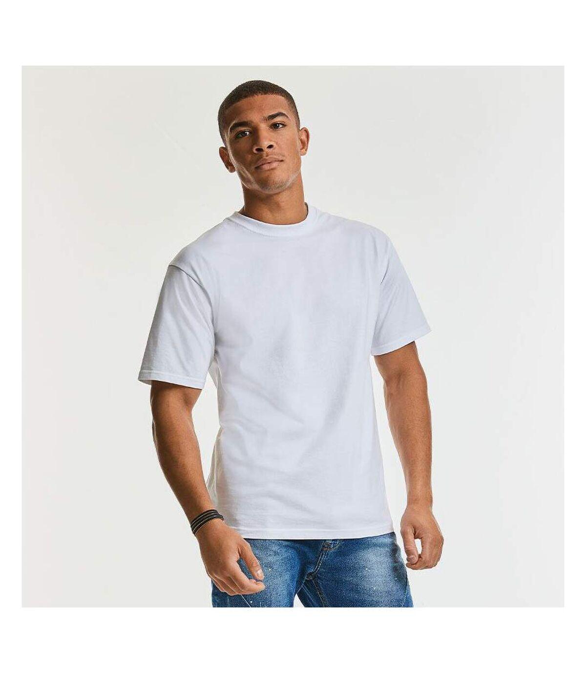Russell Europe - T-shirt épais à manches courtes 100% coton - Homme (Blanc) - UTRW3276