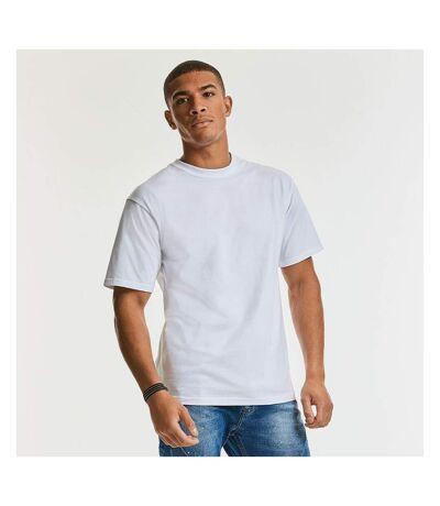 Russell Europe Mens Classic Heavyweight Ringspun Short Sleeve T-Shirt (White) - UTRW3276