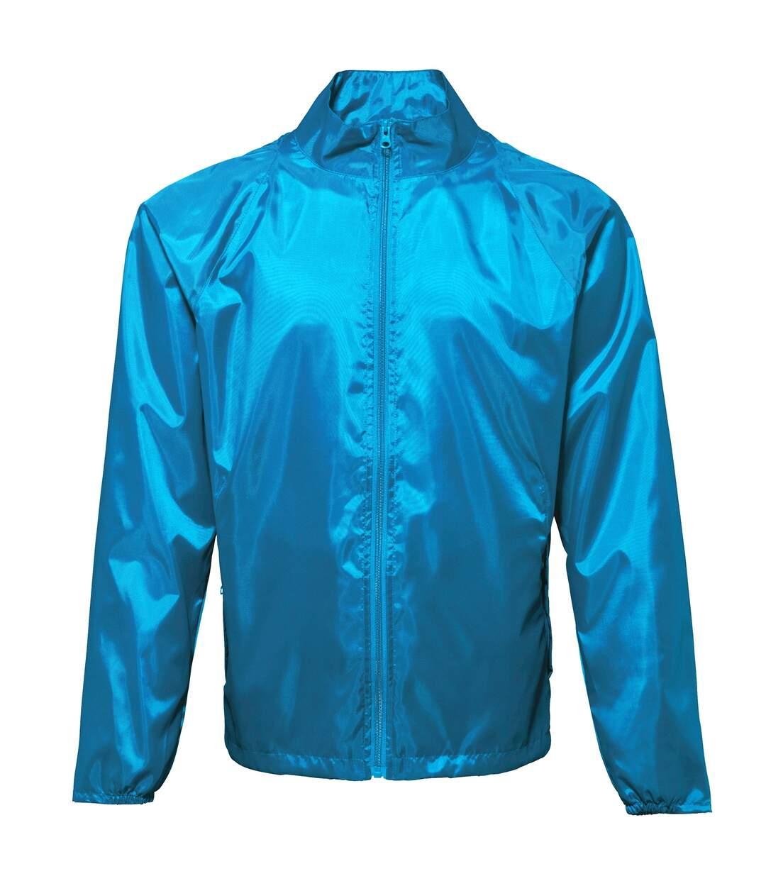 2786 Unisex Lightweight Plain Wind & Shower Resistant Jacket (Sapphire) - UTRW2500