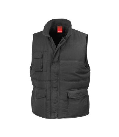 Doudoune anorak homme sans manches - Bodywarmer R094X - noir
