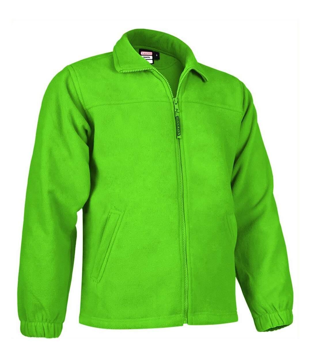 Veste polaire zippée - Homme - REF DAKOTA - vert lime