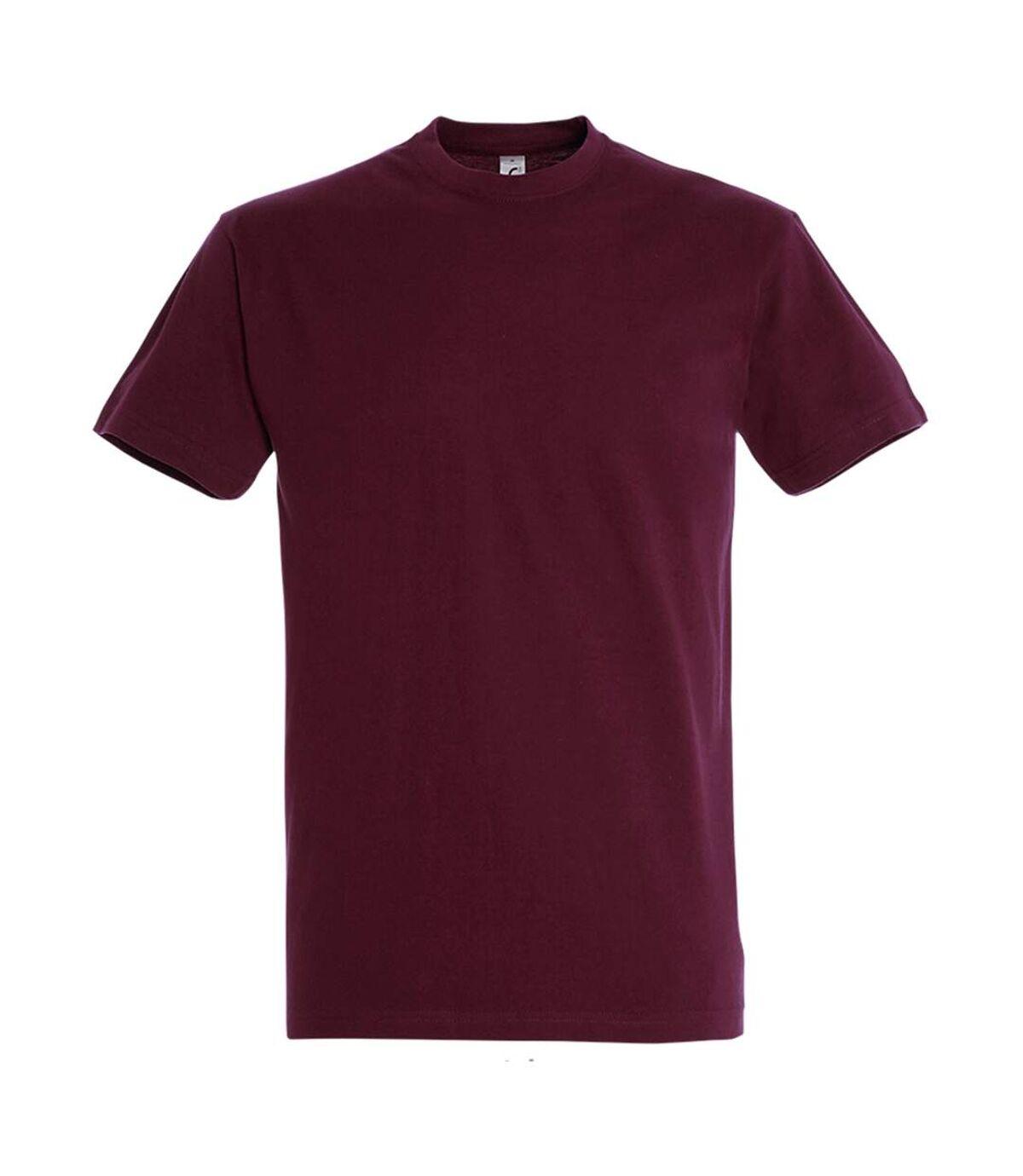 SOLS - T-shirt manches courtes IMPERIAL - Homme (Bordeaux) - UTPC290