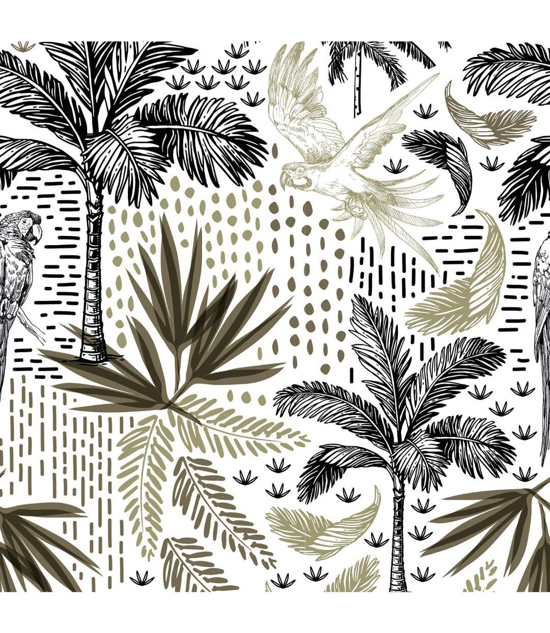 Atmosphera - Parure de lit 2 Personnes 240 x 220 cm Housse de couette avec 2 taies Imprimé Cuba