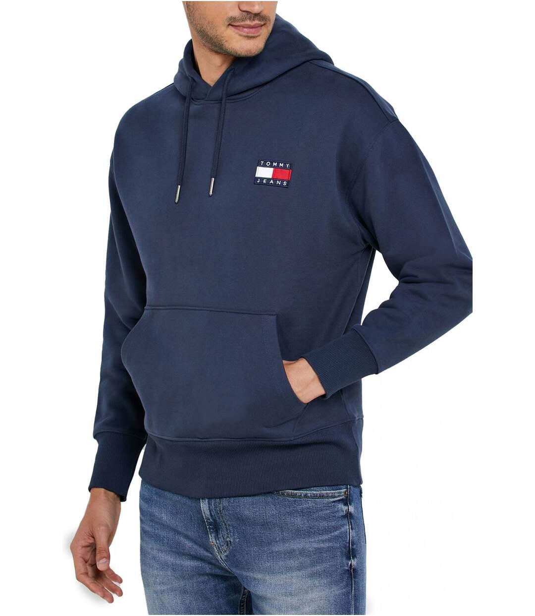Sweat capuche à logo patché  -  Homme - Tommy Jeans