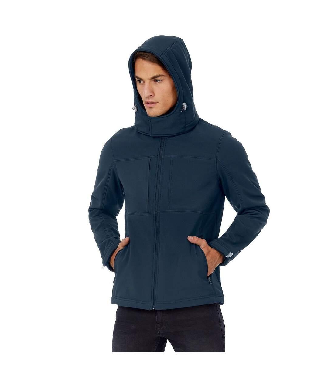 Veste softshell à capuche - hautes performances - JM950 - Bleu marine - Homme