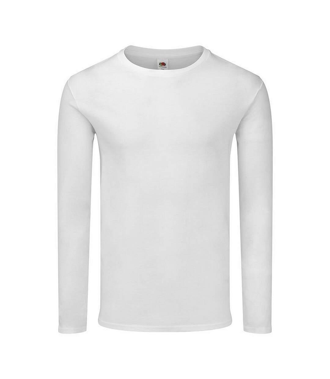 Fruit of the Loom Mens Iconic 150 Long-Sleeved T-Shirt (White) - UTRW7739