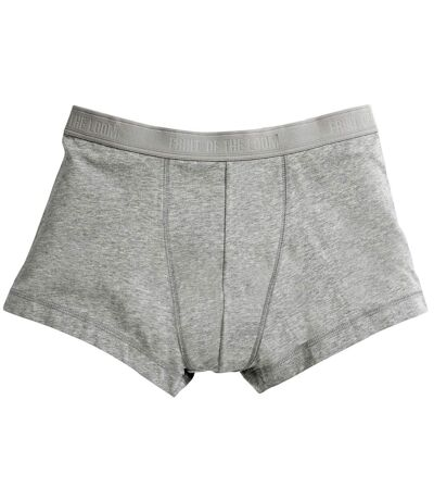 Fruit Of The Loom Mens Classic Shorty Cotton Rich Boxer Shorts (Pack Of 2) (Light Grey Marl) - UTBC3357