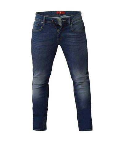 Duke - Jean stretch coupe slim AMBROSE - Homme (Bleu foncé délavé) - UTDC174
