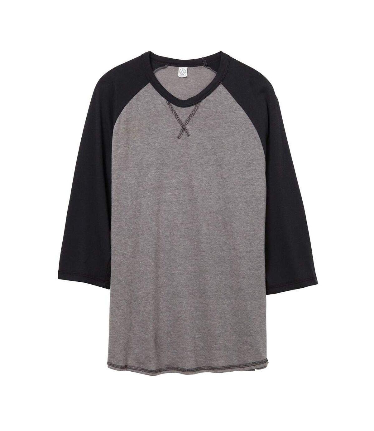 Alternative Apparel Mens Dugout Vintage 50/50 T-shirt (Vintage Coal/Black) - UTRW6010