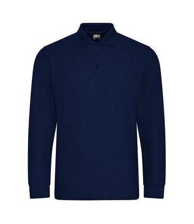PRO RTX Polo à manches longues Pro Piqué pour hommes (Bleu marine) - UTPC4263