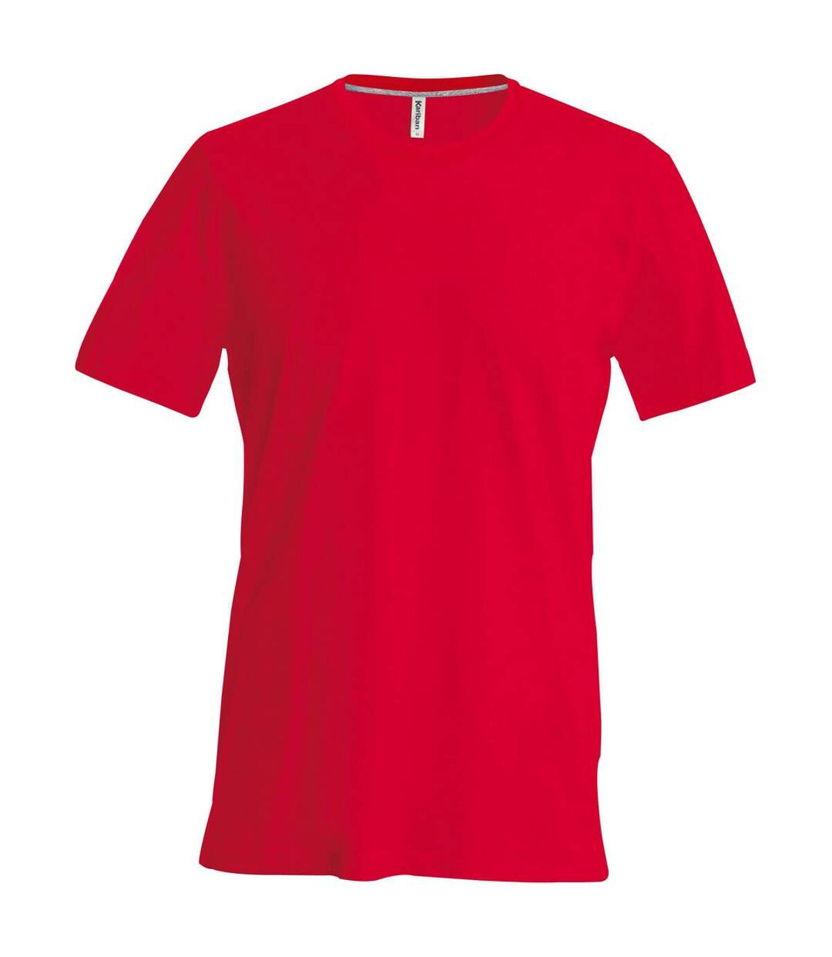 Kariban Mens Slim Fit Short Sleeve Crew Neck T-Shirt (Red) - UTRW706