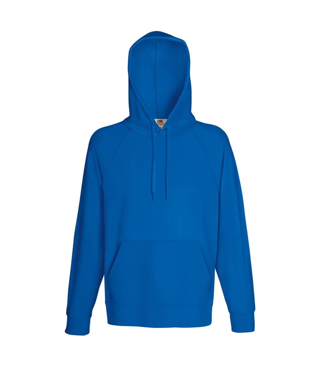 Fruit Of The Loom Mens Lightweight Hooded Sweatshirt / Hoodie (240 GSM) (Royal) - UTBC2654