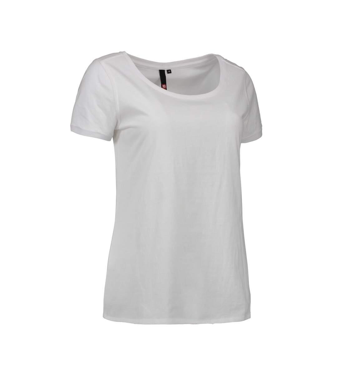 Id - T-Shirt À Col Rond - Femme (Blanc) - UTID415