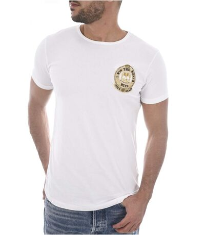 Tee shirt stretch uni avec blason MILPER  -  Hite couture - Homme