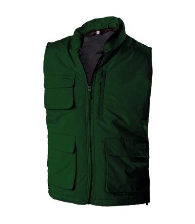 Kariban Mens Quilted Full Zip Bodywarmer/Gilet (Forest Green) - UTRW4211