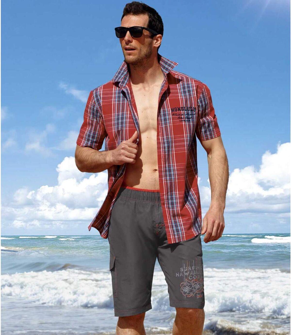 Men's Dark Gray Hawaii Surf Swim Shorts Atlas For Men
