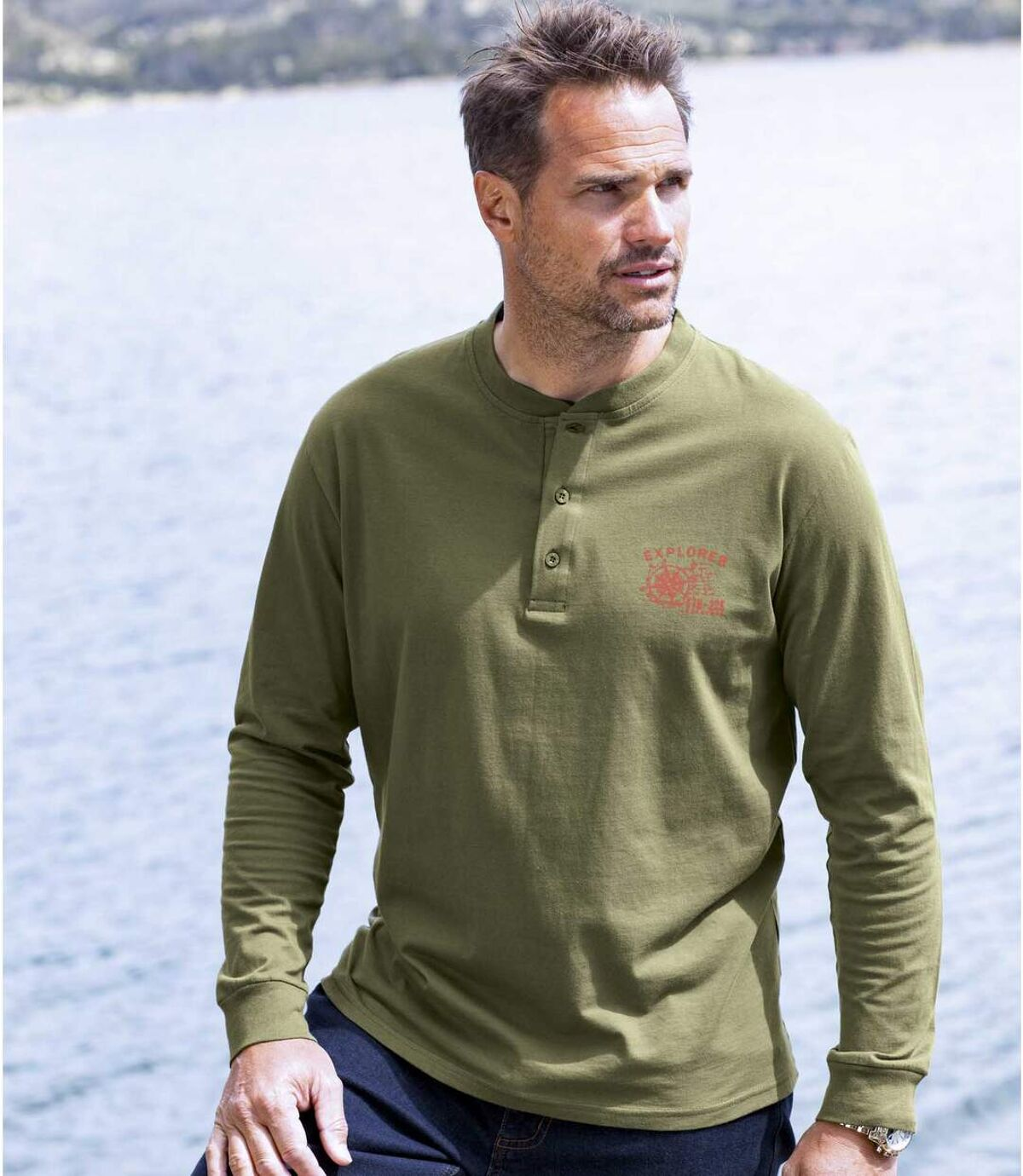 2darabos, Explorer tunéziai nyakú póló szett Atlas For Men