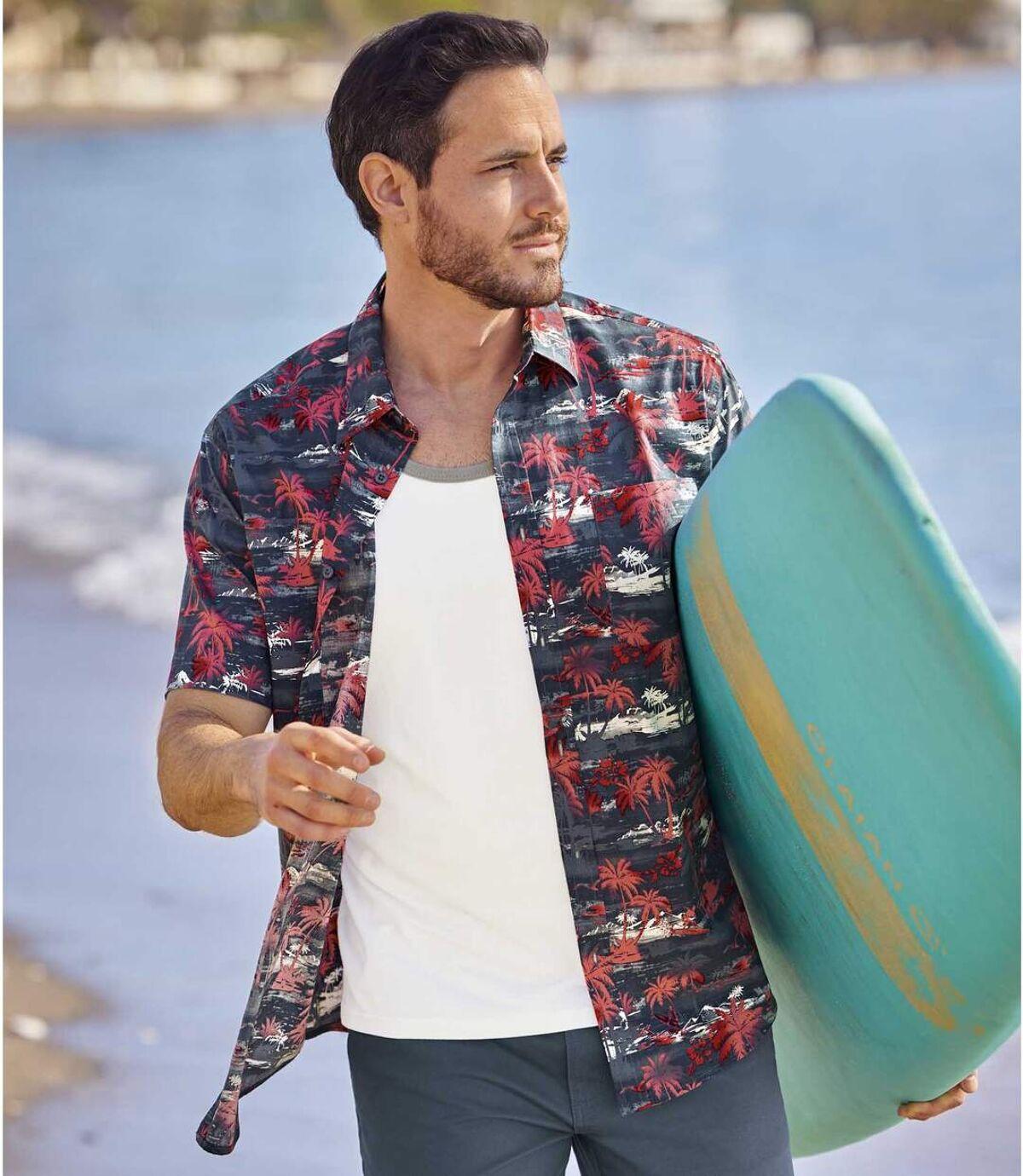 Hawajska koszula z popeliny Sunset Atlas For Men
