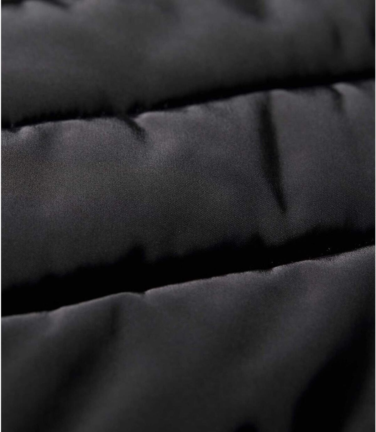 Women's Black Hooded Puffer Jacket - Water-Repellent - Full Zip Atlas For Men