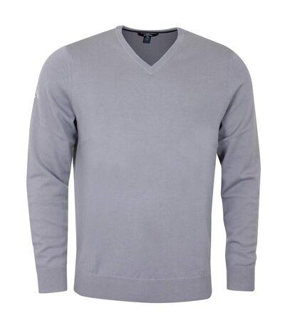 Callaway Mens Ribbed V Neck Merino Sweater (Griffin) - UTRW6253