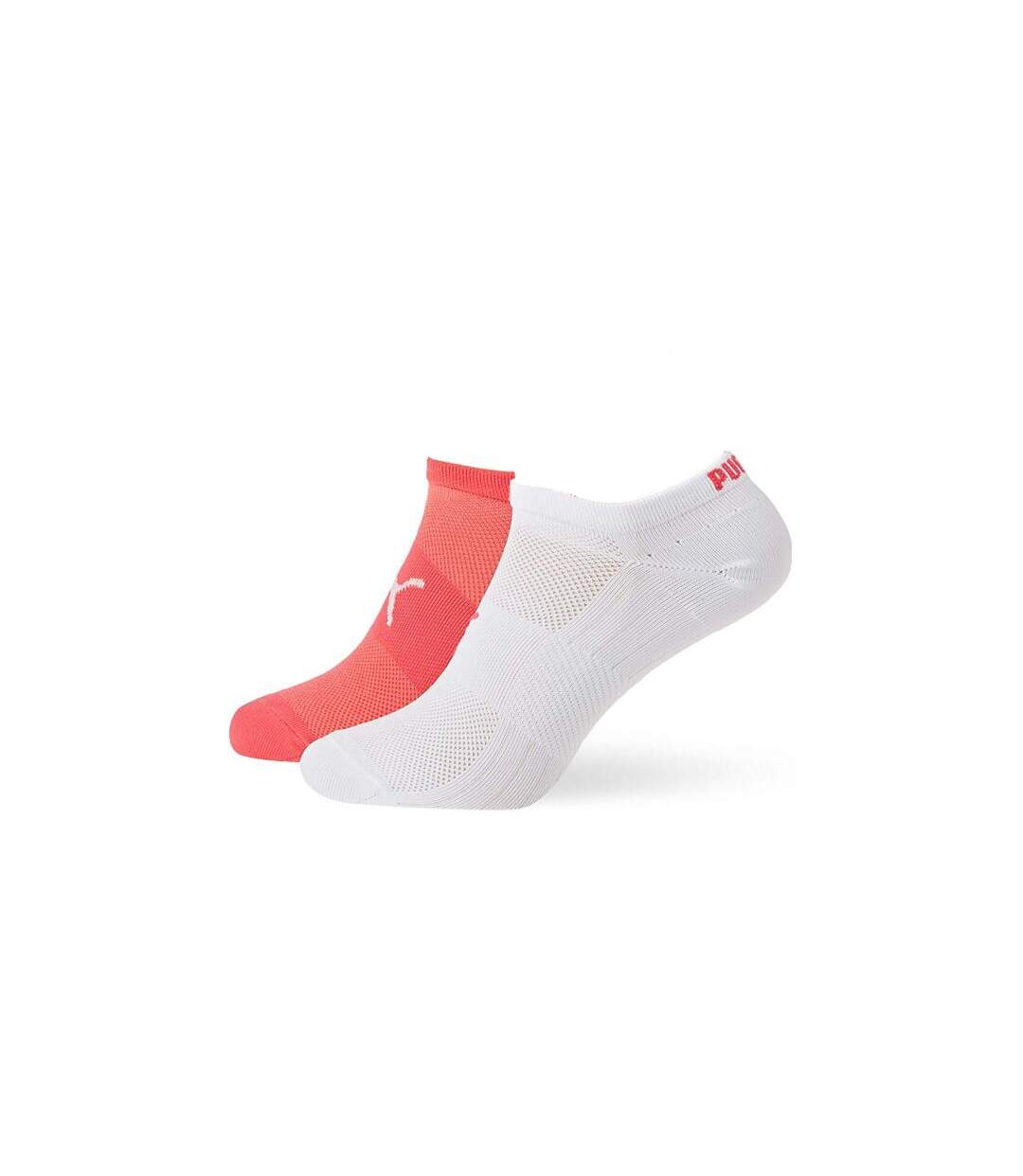 PUMA Lot de 2 paires de Socquettes Femme Microfibre TRAINLIGHT Rose Blanc PERFORMANCE