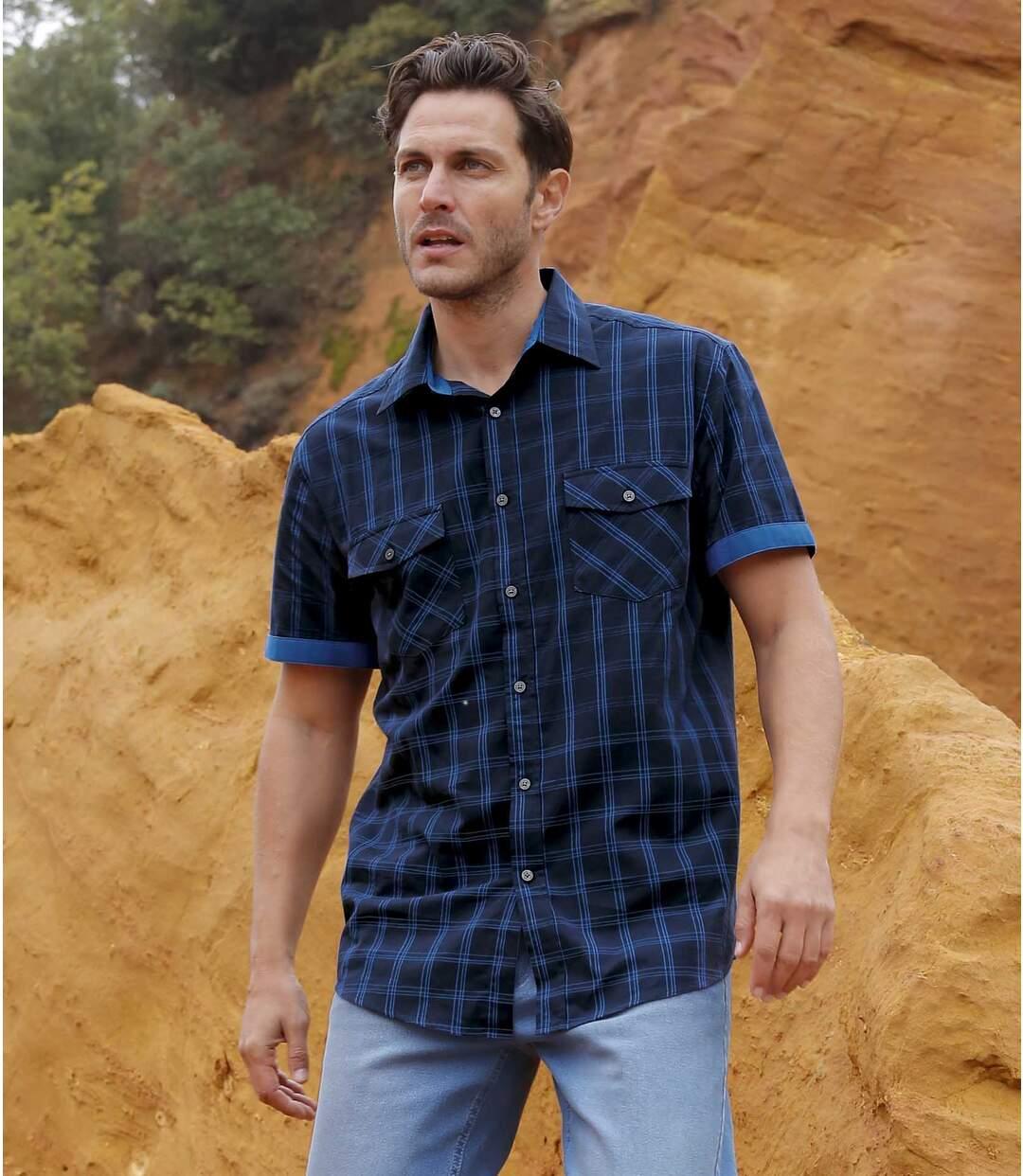 Koszula w kratę z krótkimi rękawami Blue Mesa