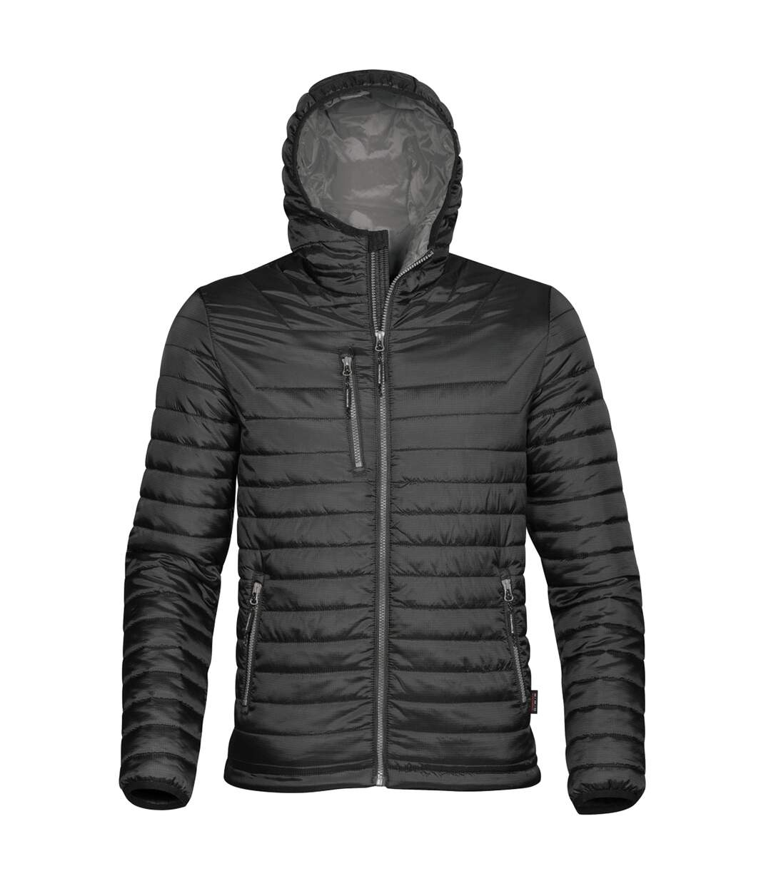 Stormtech Mens Gravity Hooded Thermal Winter Jacket (Durable Water Resistant) (Black/Charcoal) - UTBC3064