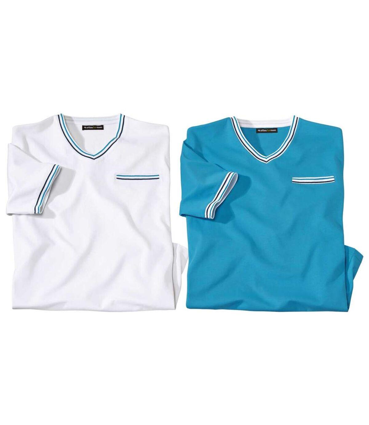Set van 2 originele T-shirts met V-hals Atlas For Men