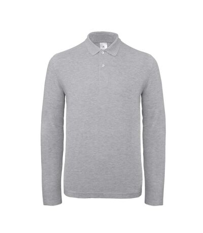 B&C ID.001 Mens Long Sleeve Polo (Taupe Grey) - UTBC3942