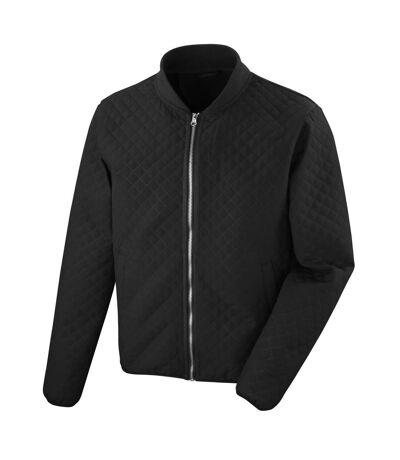 Result Mens Phantom Softshell Zip Up Bomber Jacket (Black) - UTPC2613