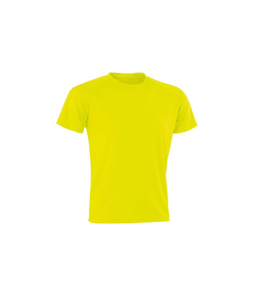 Spiro Mens Aircool T-Shirt (Flo Yellow) - UTPC3166