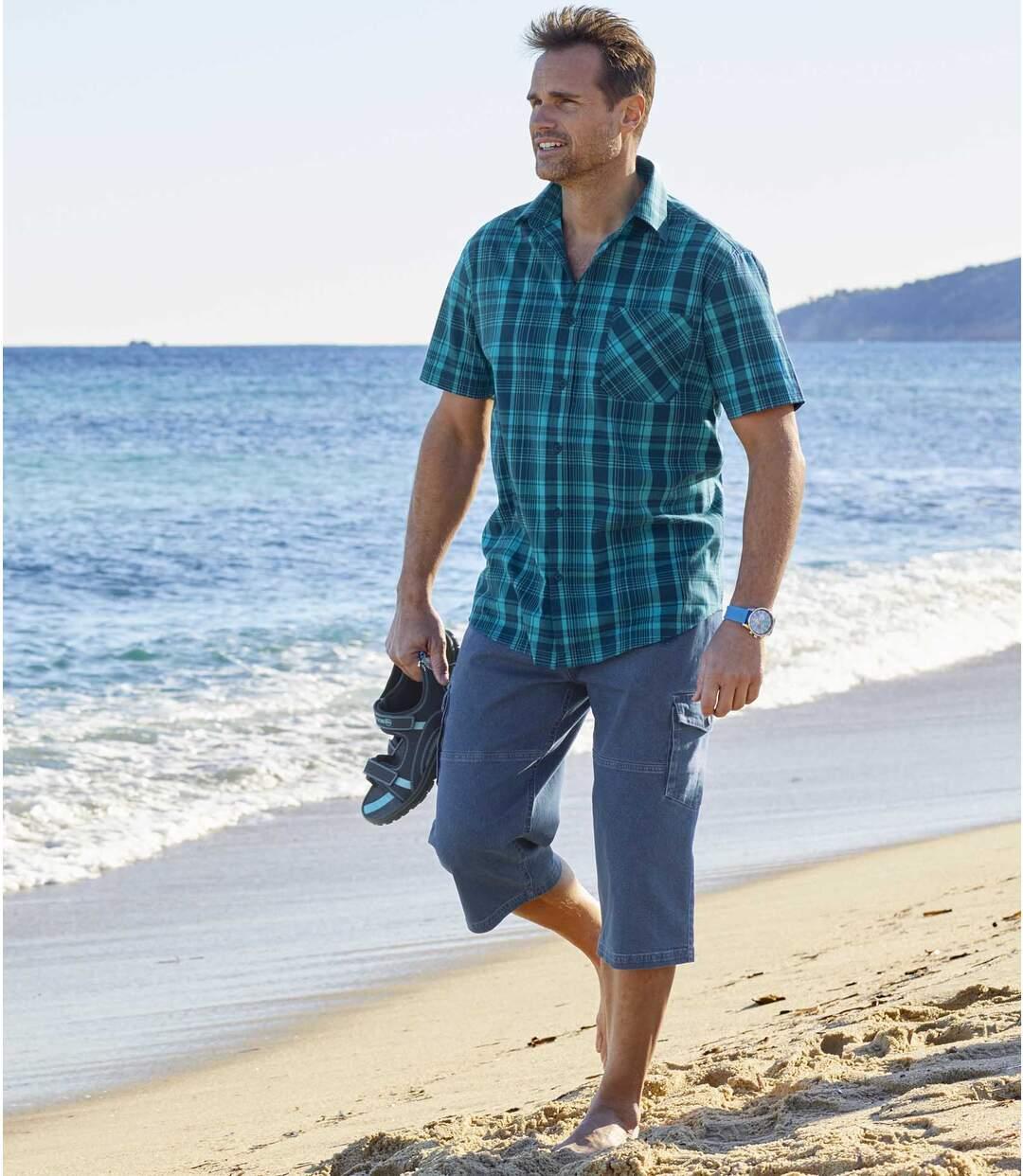 Wygodne jeansowe bojówki ¾ ze stretchem Atlas For Men