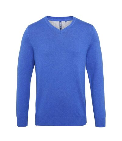 Asquith & Fox - Pull en coton à col V - Homme (Bleu roi chiné) - UTRW5188