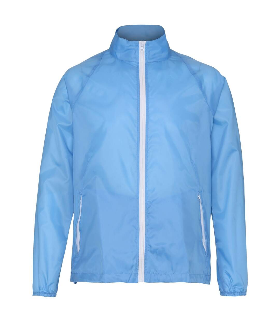 2786 Mens Contrast Lightweight Windcheater Shower Proof Jacket (Sky/ White) - UTRW2501