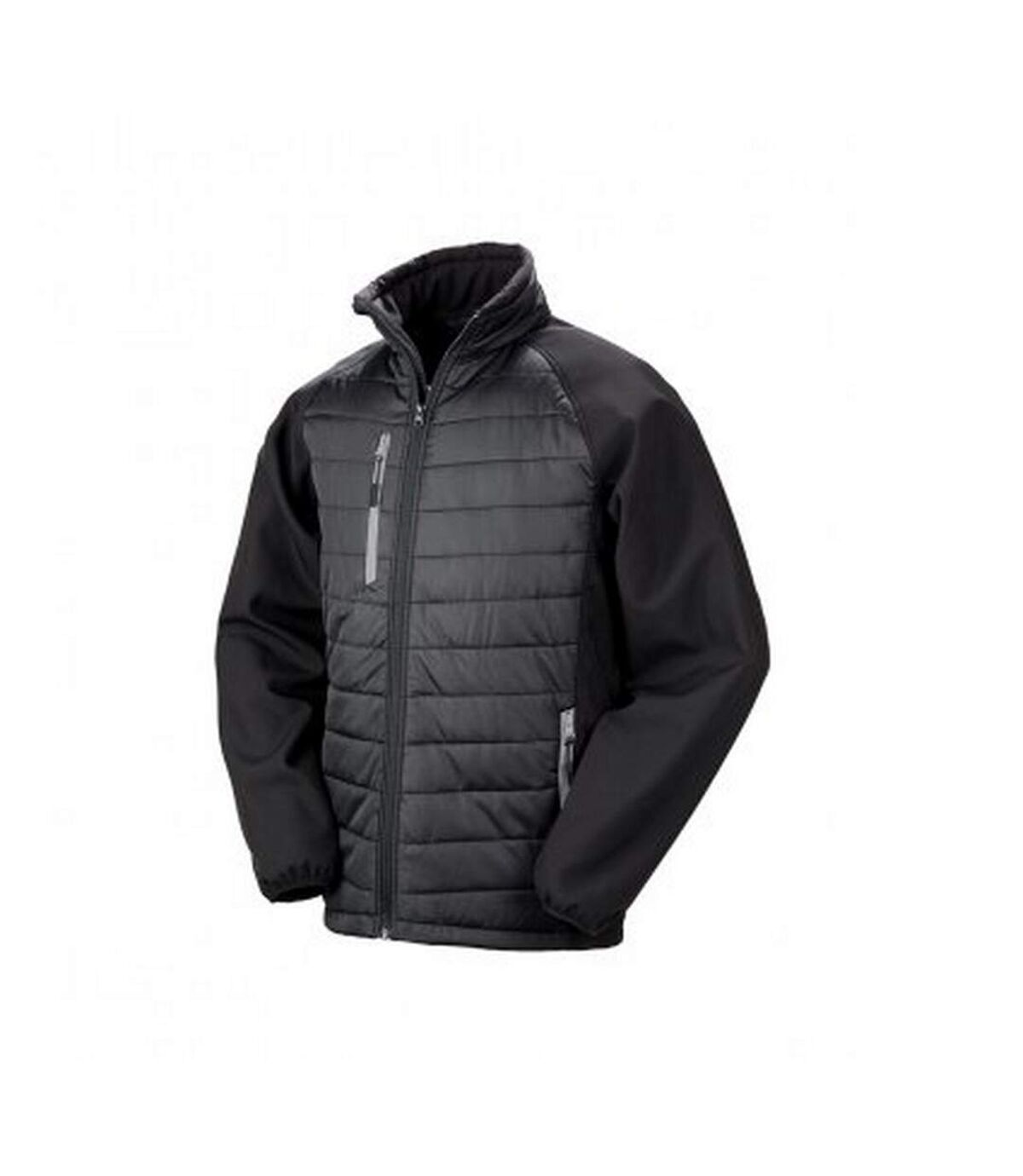 Result Mens Black Compass Padded Soft Shell Jacket (Black/Grey) - UTPC3326