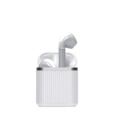 Paris Prix - écouteurs Sans Fils earbox Power 17cm Blanc