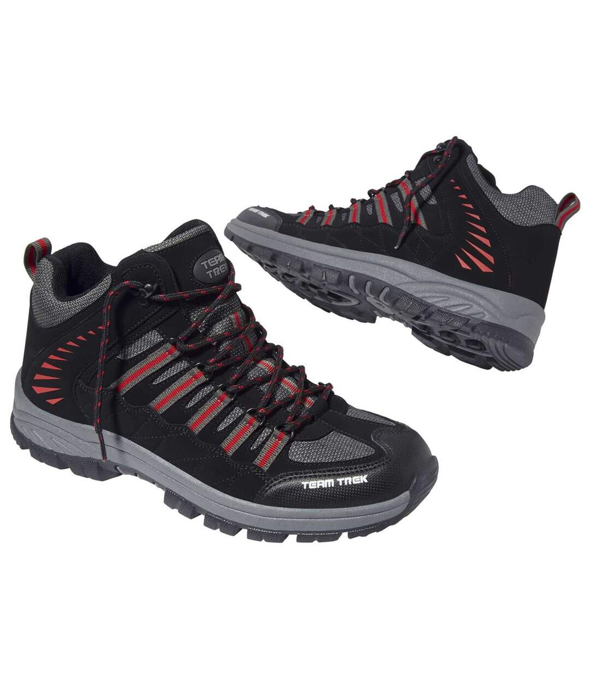 Men's Black and Grey Team Trek® Walking Shoes Atlas For Men