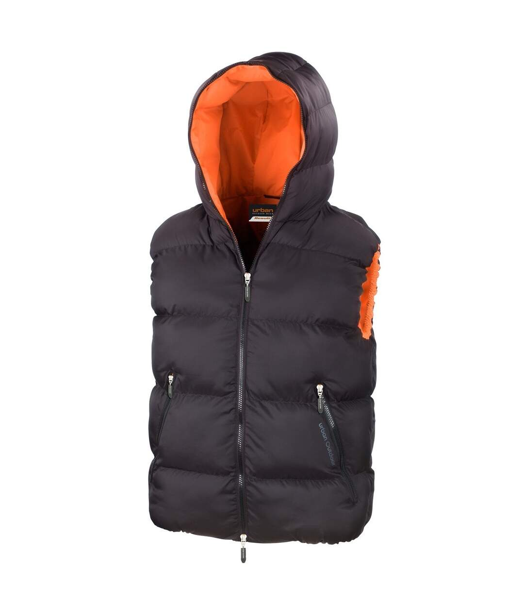 Result Mens Dax Urban Outdoor Gilet Waterproof Windproof Jacket (Black) - UTBC889