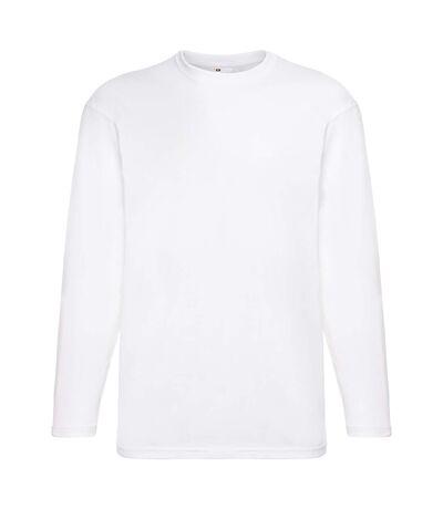 Mens Value Long Sleeve Casual T-Shirt (Snow) - UTBC3902