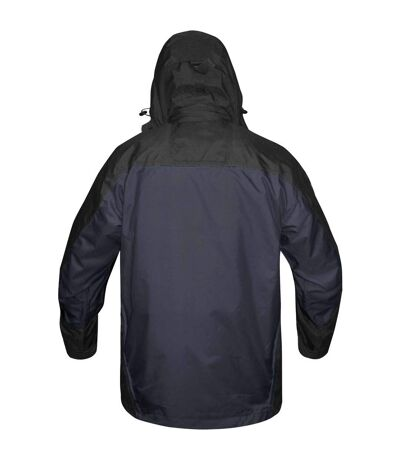 Stormtech Mens Fusion 5 In 1 System Parka Hooded Waterproof Breathable Jacket (Navy/Black) - UTBC1185