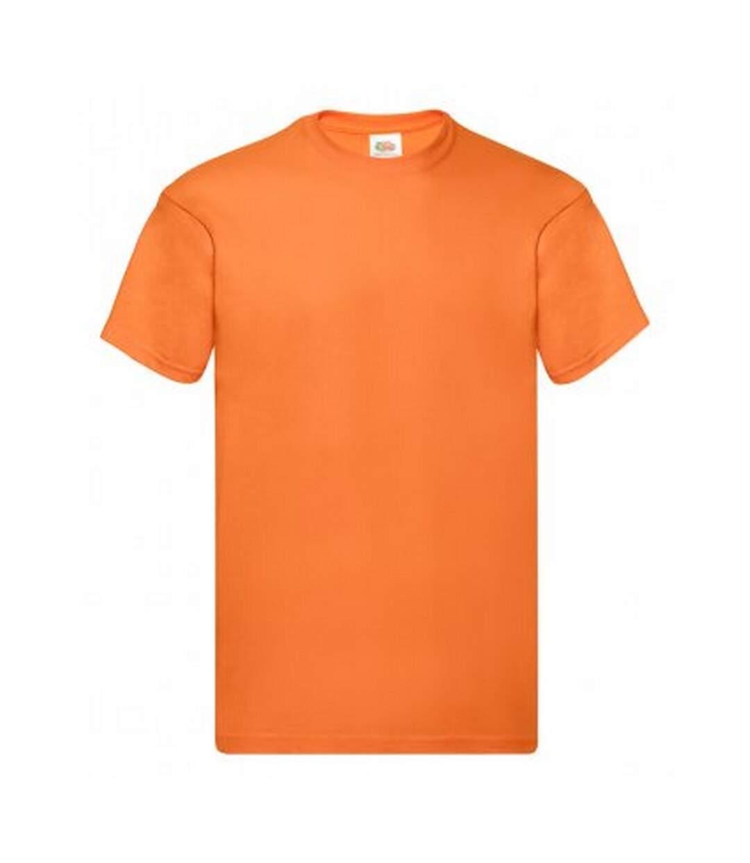 Fruit Of The Loom Mens Original Short Sleeve T-Shirt (Orange) - UTPC124