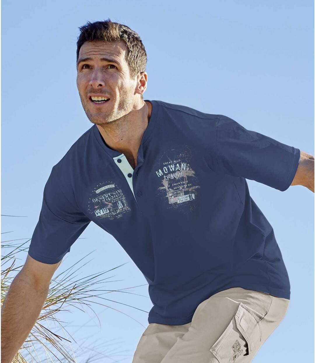Set van 2 Exploration T-shirts met Tunesische hals