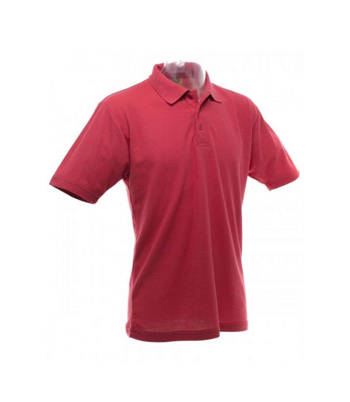 UCC 50/50 Mens Plain Piqué Short Sleeve Polo Shirt (Red) - UTBC1194