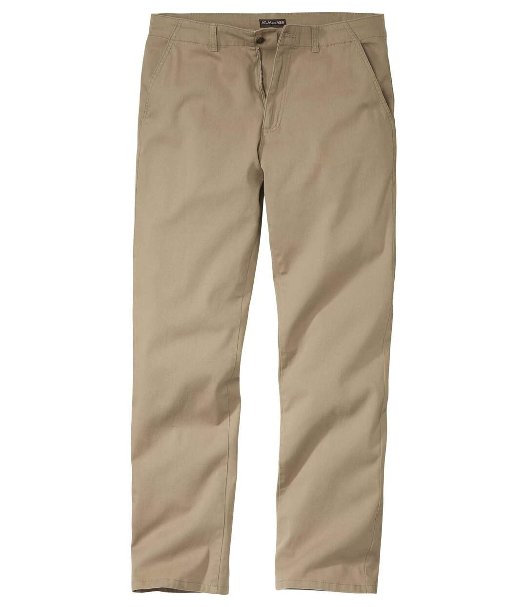 Men's Beige Stretch Twill Chinos