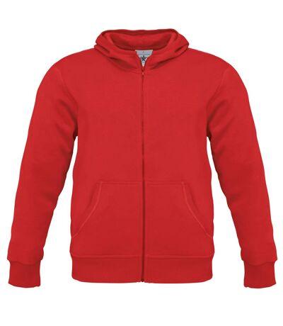 B&C Mens Monster Full Zip Hooded Sweatshirt / Hoodie (Heather Grey) - UTBC2012