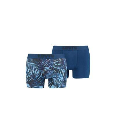 LEVI'S Lot de 2 Boxers Homme Coton TROPICALFERN Bleu