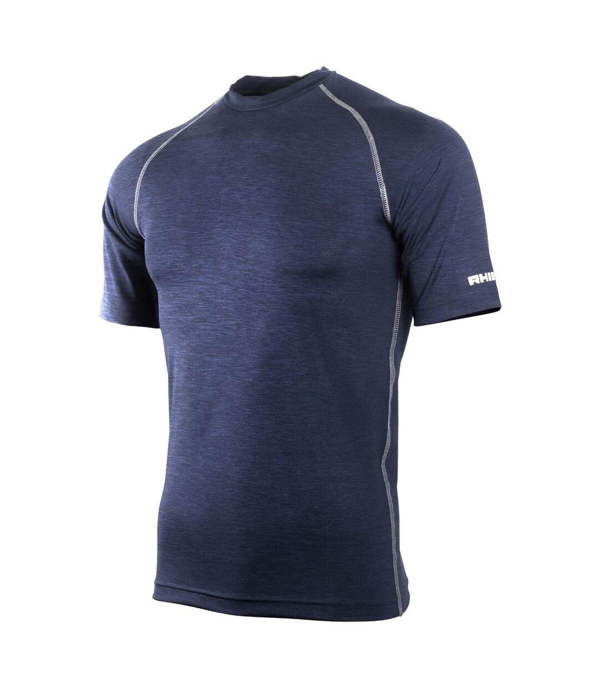 Rhino - Base layer sport à manches courtes - Homme (Bleu marine chiné) - UTRW1277